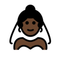 Bride With Veil: Dark Skin Tone on OpenMoji 12.0