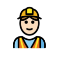 Construction Worker: Light Skin Tone on OpenMoji 2.0