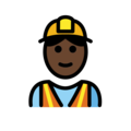Construction Worker: Dark Skin Tone on OpenMoji 12.0