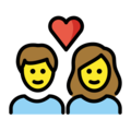Couple With Heart: Woman, Man on OpenMoji 12.0