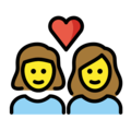 Couple With Heart: Woman, Woman on OpenMoji 12.0