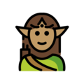 Elf: Medium Skin Tone on OpenMoji 12.0
