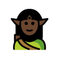 Elf: Dark Skin Tone on OpenMoji 12.0