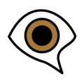 Eye in Speech Bubble on OpenMoji 12.0