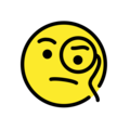 Face With Monocle on OpenMoji 12.0