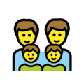 Family: Man, Man, Boy, Boy on OpenMoji 12.0