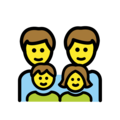 Family: Man, Man, Girl, Boy on OpenMoji 12.0