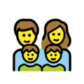 Family: Man, Woman, Boy, Boy on OpenMoji 12.0