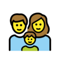 Family: Man, Woman, Boy on OpenMoji 12.0