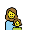 Family: Woman, Girl on OpenMoji 12.0