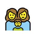Family: Woman, Woman, Boy on OpenMoji 2.0
