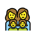 Family: Woman, Woman, Girl, Girl on OpenMoji 2.0