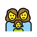 Family: Woman, Woman, Girl on OpenMoji 12.0
