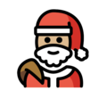 Santa Claus: Medium-Light Skin Tone on OpenMoji 12.0