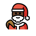 Santa Claus: Dark Skin Tone on OpenMoji 12.0