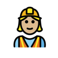 Woman Construction Worker: Medium-Light Skin Tone on OpenMoji 12.0