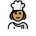 Woman Cook: Medium Skin Tone on OpenMoji 12.0