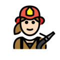 Woman Firefighter: Light Skin Tone on OpenMoji 12.0
