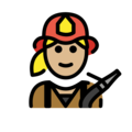 Woman Firefighter: Medium-Light Skin Tone on OpenMoji 12.0