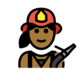 Woman Firefighter: Medium-Dark Skin Tone on OpenMoji 12.0