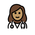 Woman Health Worker: Medium Skin Tone on OpenMoji 12.0
