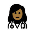 Woman Health Worker: Medium-Dark Skin Tone on OpenMoji 12.0