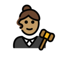 Woman Judge: Medium Skin Tone on OpenMoji 12.0