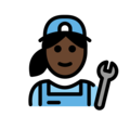 Woman Mechanic: Dark Skin Tone on OpenMoji 12.0