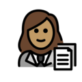 Woman Office Worker: Medium Skin Tone on OpenMoji 12.0