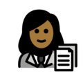 Woman Office Worker: Medium-Dark Skin Tone on OpenMoji 12.0