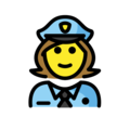 Woman Police Officer on OpenMoji 12.0
