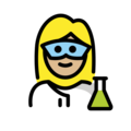 Woman Scientist: Medium-Light Skin Tone on OpenMoji 12.0