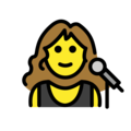 Woman Singer on OpenMoji 12.0