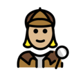 Woman Detective: Medium-Light Skin Tone on OpenMoji 12.0