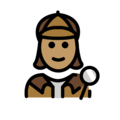 Woman Detective: Medium Skin Tone on OpenMoji 12.0