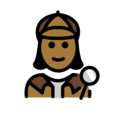 Woman Detective: Medium-Dark Skin Tone on OpenMoji 12.0