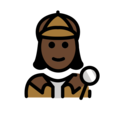 Woman Detective: Dark Skin Tone on OpenMoji 12.0