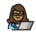 Woman Technologist: Medium Skin Tone on OpenMoji 12.0