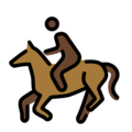Horse Racing: Dark Skin Tone on OpenMoji 12.0