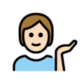 Person Tipping Hand: Light Skin Tone on OpenMoji 12.0