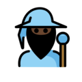 Mage: Dark Skin Tone on OpenMoji 12.0