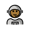Man Astronaut: Medium-Dark Skin Tone on OpenMoji 12.0
