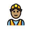 Man Construction Worker: Medium Skin Tone on OpenMoji 12.0