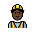 Man Construction Worker: Dark Skin Tone on OpenMoji 12.0