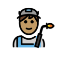 Man Factory Worker: Medium Skin Tone on OpenMoji 2.0