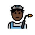 Man Factory Worker: Dark Skin Tone on OpenMoji 12.0