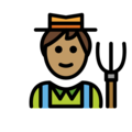 Man Farmer: Medium Skin Tone on OpenMoji 12.0