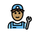 Man Mechanic: Medium Skin Tone on OpenMoji 12.0