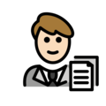 Man Office Worker: Light Skin Tone on OpenMoji 12.0