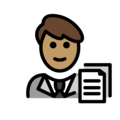 Man Office Worker: Medium Skin Tone on OpenMoji 12.0